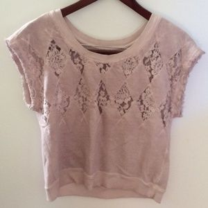 Diesel O.D Knit Embroidered Lace Blush Sweater